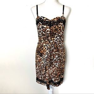 Guess Leopard & Lace 90's Vibe Shift Dress Size 6